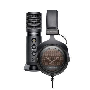 Beyerdynamic TYGR 300R Headphone and FOX USB Microphone Bundle